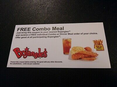 Bojangle's  Combo Meal Voucher, NO EXPIRATION, Shipping 1 Business Day