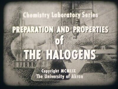 Preparation And Properties Of The Halogens 16mm short film 1959 B&W