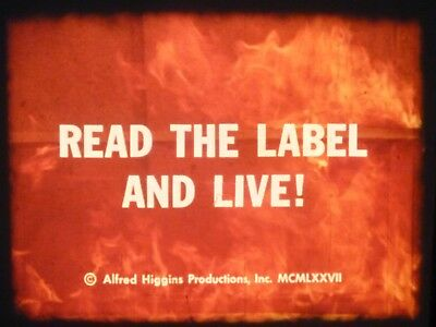 Read The Label And Live! 1977 16mm short film Documentary