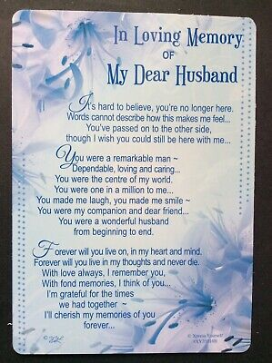 Husband Memorial Card , In Loving Memory Open Graveside Memorial Card -(#)
