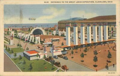 Entrance to The Great Lakes Exposition, Cleveland, Ohio,   Linen