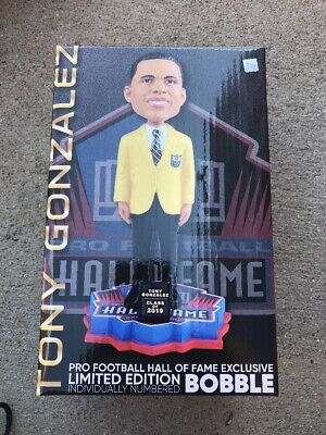 TONY GONZALEZ Kansas City Chiefs / UCLA Bruins 2019 NFL GOLD JACKET Bobblehead!