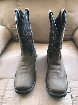 cf805452f15 MENS WOLVERINE WORK Boots Size 9 Steel Toed 84902 Great Condition ...