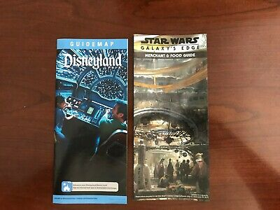 Disneyland  June - Present 2019 Park Maps and Guide with Galaxy's Edge extra