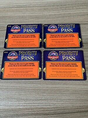 Alton Towers Fastrack Priority Pass 1.1m X4