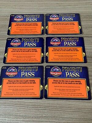 Alton Towers Fastrack Priority Pass 1.1m x6