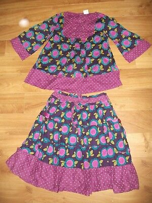 next girls  top and matching skirt - outfit 11 years