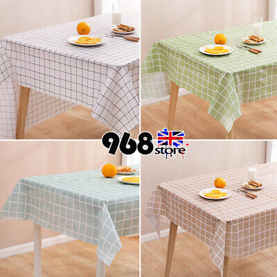 PicClick UK & WIPE CLEAN TABLE Cloth PVC Plastic Table Cover Tablecloth Waterproof Oil-proof