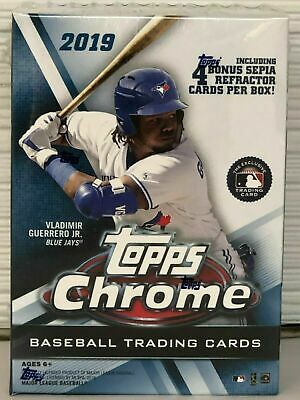 2019 Topps Chrome Baseball Factory Sealed Blaster Box