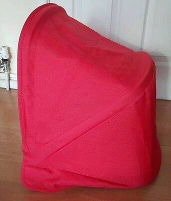 Bugaboo Donkey Coral Red Limited Edition hood / Sun canopy Rare Colour !