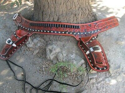 D A D CUSTOM LEATHER Hand Tooled Western Holster Fast