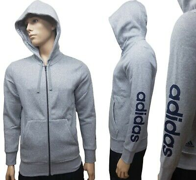 New DY7940 Men/'s ADIDAS ESSENTIALS LINEAR Full Zip GENUINE Hoody Jumper S-M-L-XL