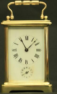 Couillett Freres Antique French 8 Day Alarm Carriage Clock