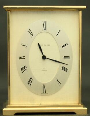 Garrard London Swiss Hf Quartz Solid Brass Boudoir Carriage Clock
