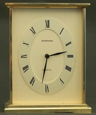 Garrard Vintage Swiss Solid Brass Quartz Carriage Clock