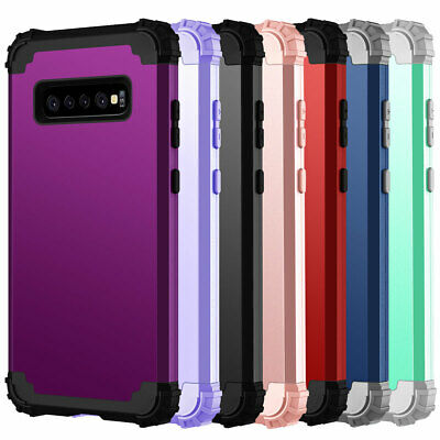 Shockproof Hybrid Rugged Rubber Hard Defender Case For Samsung Galaxy S10 Plus