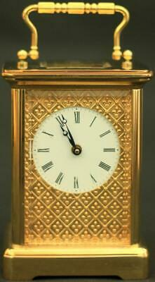 Matthew Norman Swiss 1754 Masked Dial 8 Day Timepiece Carriage Clock