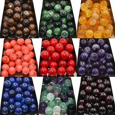 Wholesale Beads 4mm 6mm 8mm 10mm Natural Gemstone Round Spacer Loose