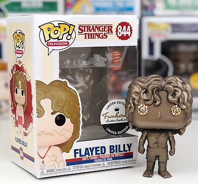 Funko Pop #844 Gold Metallic Stranger Things Flayed Billy Funhouse Exclusive