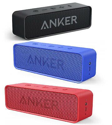 Anker Soundcore Bluetooth Portable Speaker, Rich Bass, 24-Hour Playtime - New!