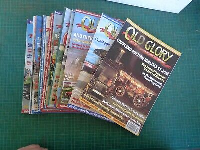 Vintage farming OLD GLORY magazine 2002 12 issues,  Steam machinery