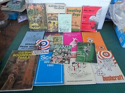 Vintage scouting books, scout leaders references lot 1