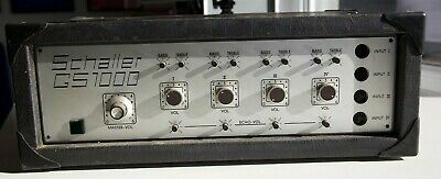 Schaller GS 1000 amplifier  vintage   made in Germany