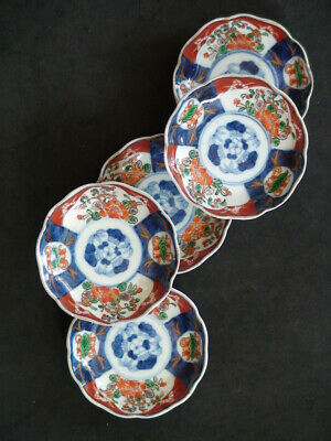 Set of 5 Japanese Imari ware Bowl Dish Plate Rare Antique Collectible Signed