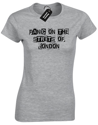 Panic On Streets Of London Ladies T Shirt Rebellion Smiths Protest Revolution
