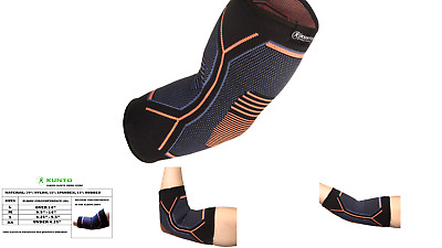 Kunto Fitness Elbow Brace Compression Support Sleeve for Tendonitis, Tennis E...