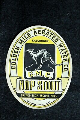 Golden Mile Aerated Water Company Hop Stout Australian Kalgoorlie Advertising