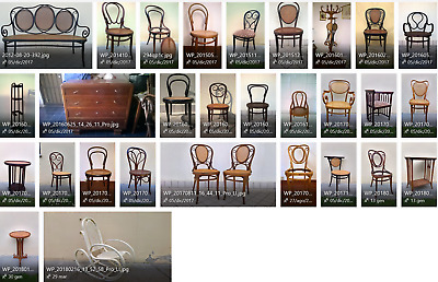 Several original Thonet, Kohn and others chair, armchair, sofa, table since 1861