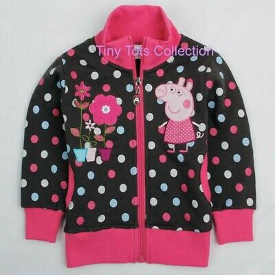 NEW with tag BNWT girls peppa pig cardigan jacket fleece size 4