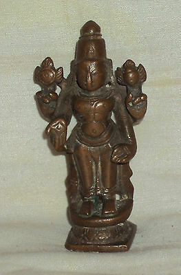 "Traditional Indian Ritual Bronze Statue Of God ""Vishnu"" #1"
