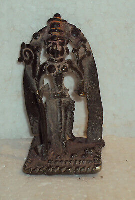 Antique Traditional Indian Ritual Tribal Bronze Statue SHIVA ##2