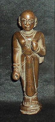 Antique Traditional Indian Ritual Copper Goddess Radha Statue Rare Collectible#2