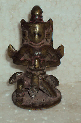 Antique Traditional Indian Brass Statue 'Garuda' Vahana Vishnu #6