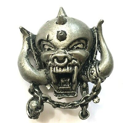 MOTORHEAD - War Pig - Old OG Vtg 1990 3D Cast Metal Pin Badge By Poker NWOBHM