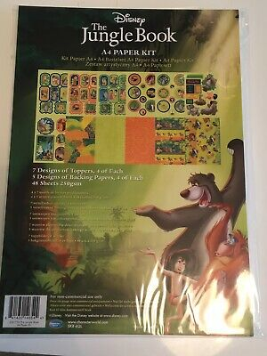 Disney Paper A4 Paper Kit Jungle Book Backgrounds, Die Cut character Sheets, Ect