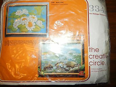 Craft Kit The Creative Circle Crewel Embroidery 3348 Water Lilies Pond Quilted