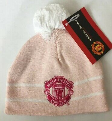 BNWT Official Manchester United Man United Baby Girls Winter Hat Pink