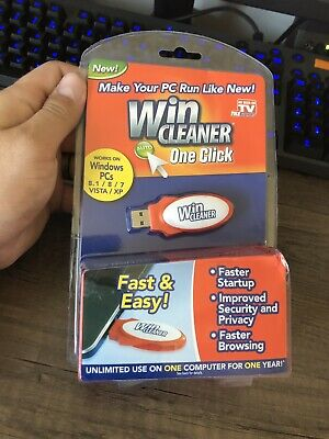 WIN CLEANER USB As Seen on TV Computer Faster PC Clean