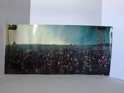 The Crowd at WOODSTOCK 1969 a Panoramic View 34 1/2 by 16 1/2 Two Towers