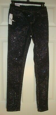 JORDACHE~girl's~VERY/SPARKLY/BLACK/JEGGING'S! (X/L~14/16) NEW/W/TAGS! @@ CUTE!