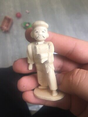 Antique Carved Bovine Bone Oriental Figure Priced For Quick Sale