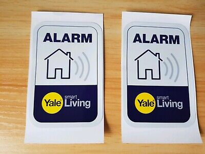 2X  Yale Smart Living alarm security warning window labels stickers New Free P&P