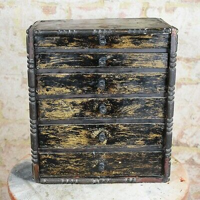 Antique Collectors Cabinet Bank of Drawers Vintage