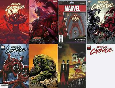 Absolute Carnage #1 8 Variant Bundle (Marvel 2019) ArtGerm Lim Hotz Blank Party