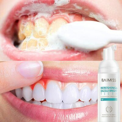 BAIMISS Fresh Shining Tooth-Cleaning Mousse Toothpaste Teeth Whitening Oral