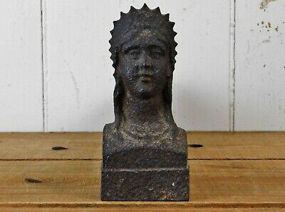 French Victorian Figural Female Bust Lady Liberty Andiron Fire Dog
